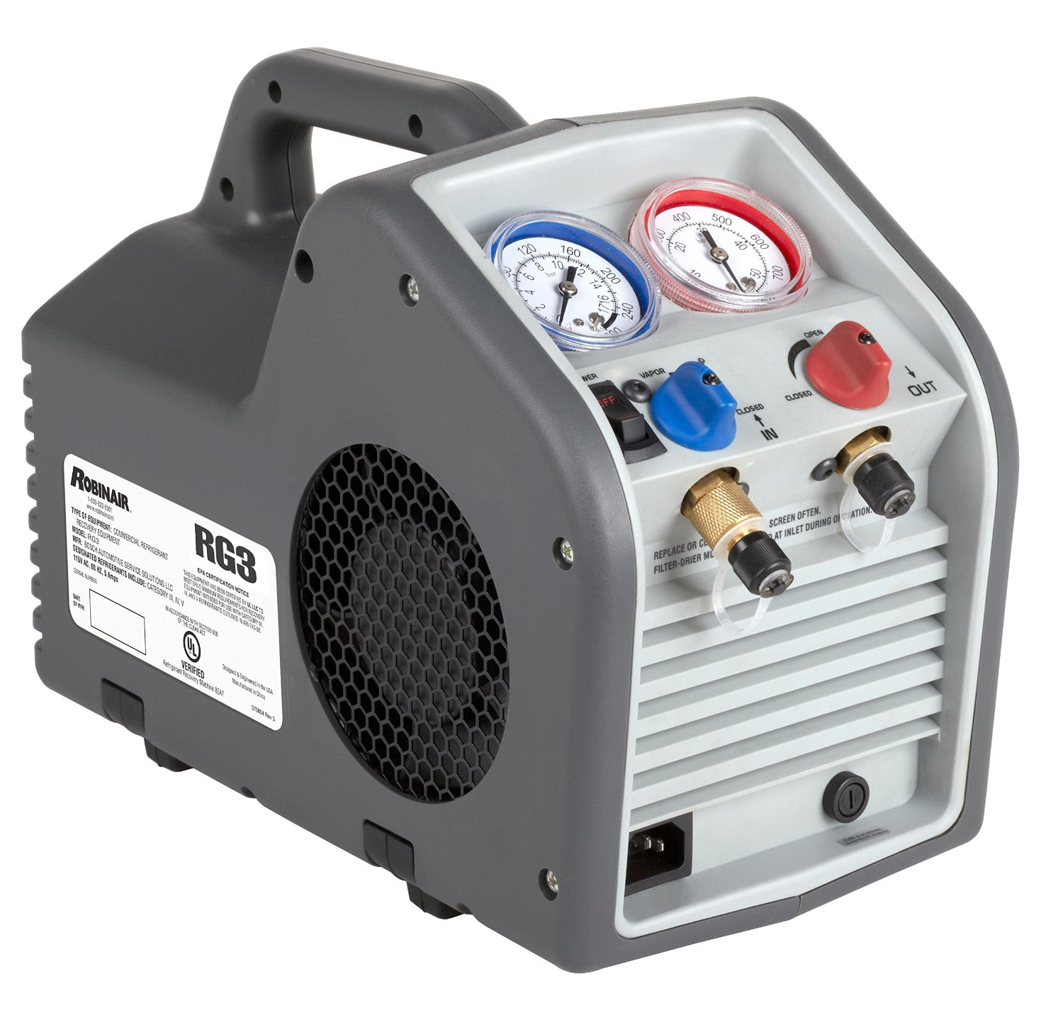 Product Review: Robinair (RG3) Portable Refrigerant Recovery Machine