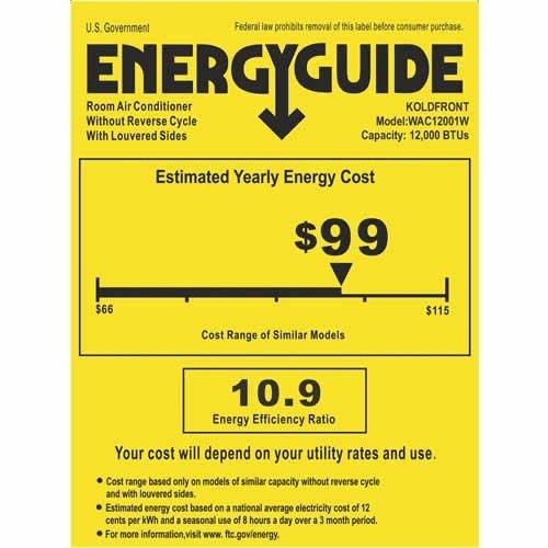 Koldfront WAC12001W Energy Saver