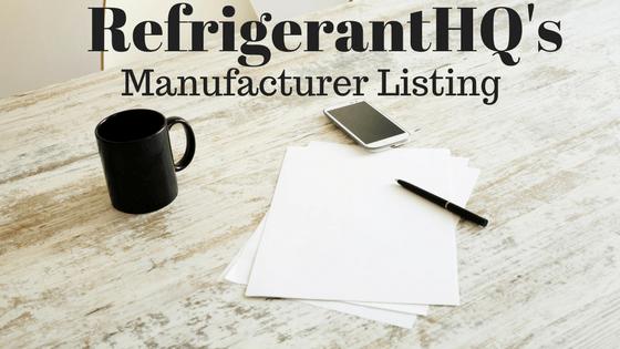 Refrigerant Manufacturer Listing - Refrigerant HQ