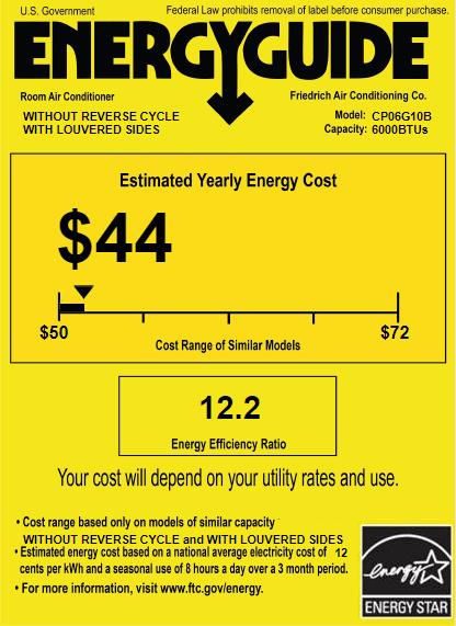 Friedrich Chill CP06G10B Energy Guide