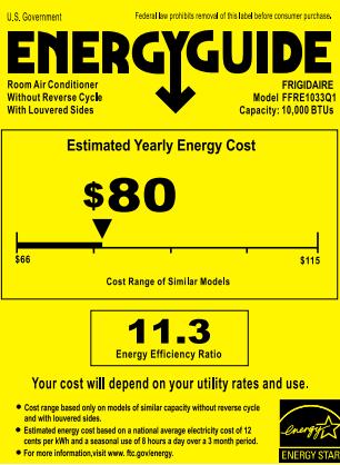 FFRE1033Q1 Energy Guide