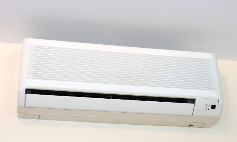 Interior Section of a Ductless Air Conditioner