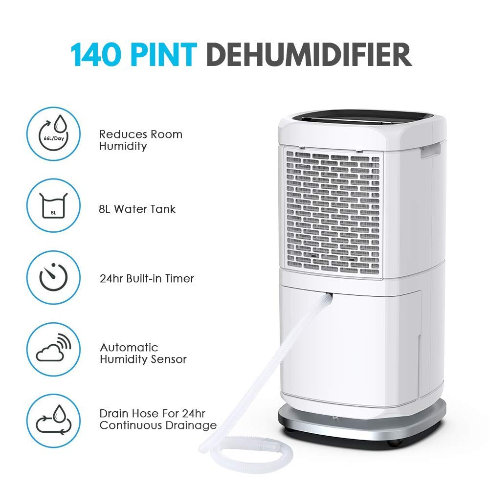 COLZER PD582A 140 Pints Commercial Dehumidifier