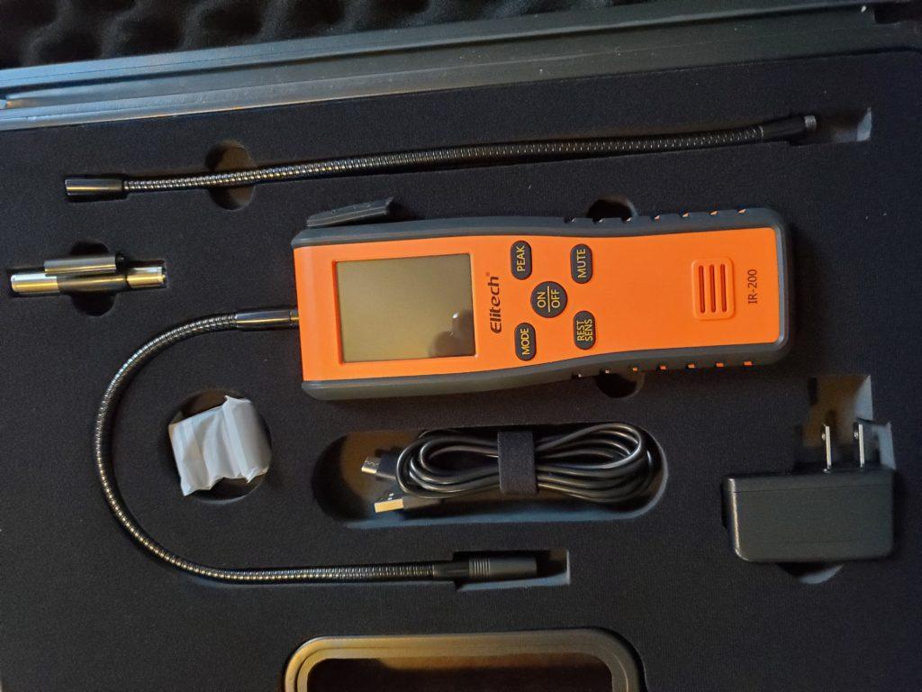 Elitech IR-200 Leak Detector Display